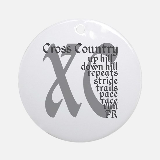Cross Country XC grey gray Round Ornament