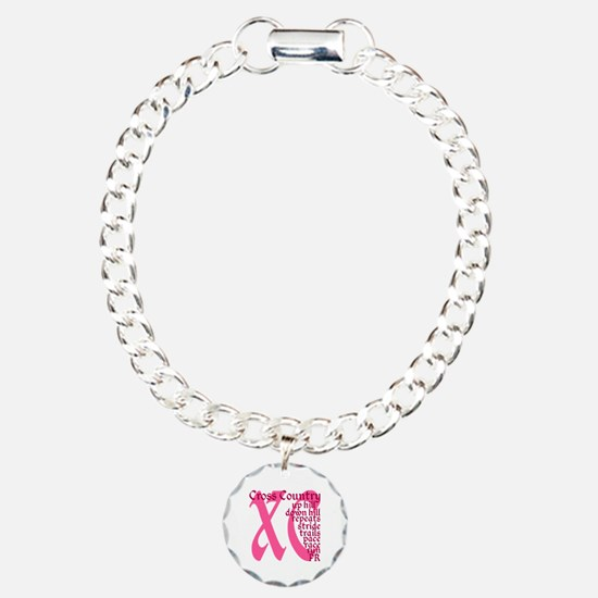 Cross Country XC pink Bracelet