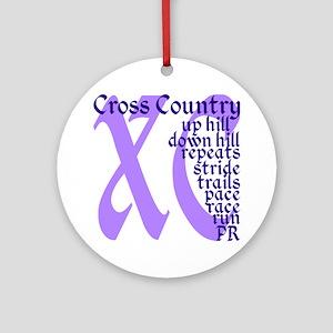 Cross Country XC purple Round Ornament