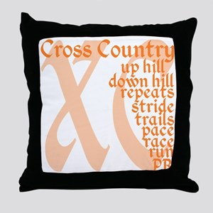 Cross Country XC orange Throw Pillow