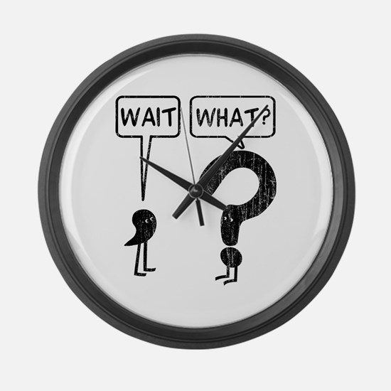 Wait, What? Large Wall Clock