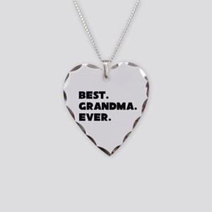 Best Grandma Ever Necklace Heart Charm