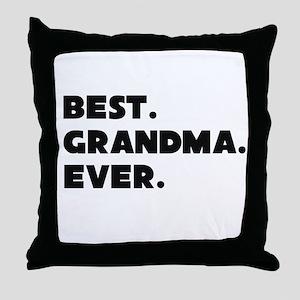Best Grandma Ever Throw Pillow