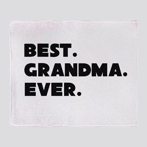 Best Grandma Ever Throw Blanket