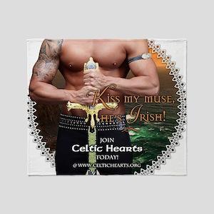 Celtic Hearts Irish Muse Throw Blanket
