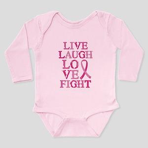 Live Love Fight Long Sleeve Infant Bodysuit