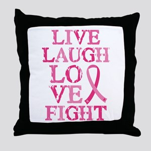 Live Love Fight Throw Pillow