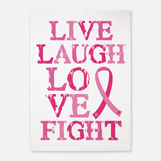 Live Love Fight 5'x7'Area Rug