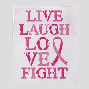 Live Love Fight Throw Blanket