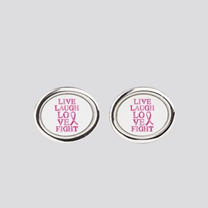 Live Love Fight Oval Cufflinks