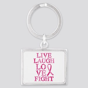 Live Love Fight Landscape Keychain