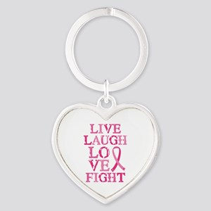 Live Love Fight Heart Keychain