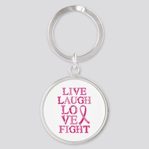 Live Love Fight Round Keychain