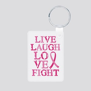 Live Love Fight Aluminum Photo Keychain Keychains