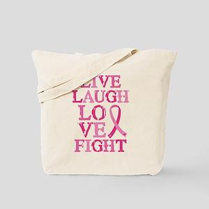 Live Love Fight Tote Bag