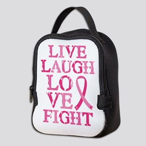 Live Love Fight Neoprene Lunch Bag