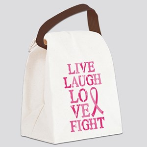 Live Love Fight Canvas Lunch Bag