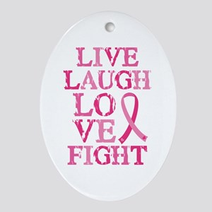 Live Love Fight Ornament (Oval)