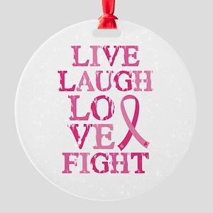 Live Love Fight Round Ornament