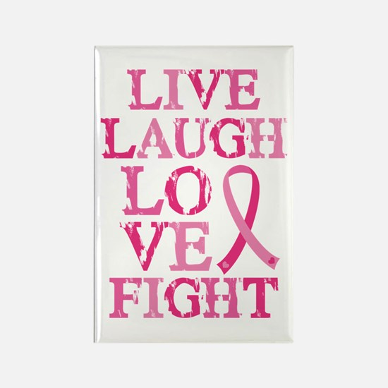 Live Love Fight Rectangle Magnet (10 pack)
