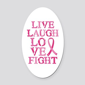 Live Love Fight Oval Car Magnet