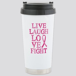 Live Love Fight Stainless Steel Travel Mug