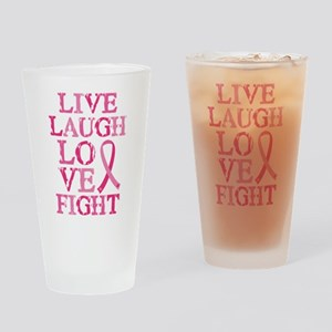Live Love Fight Drinking Glass
