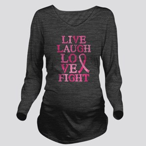 Live Love Fight Long Sleeve Maternity T-Shirt
