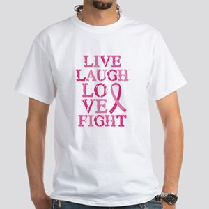 Live Love Fight White T-Shirt