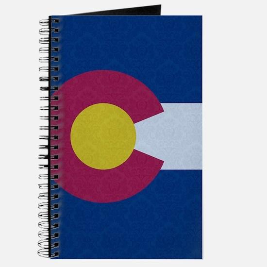 Flag of Colorado Damask Pattern Journal