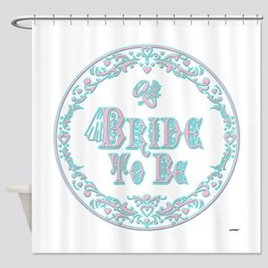 Bride To Be With Veil, Fancy Pink - Teal Vintage S