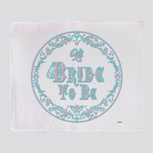 Bride To Be With Veil, Fancy Pink - Teal Vintage T