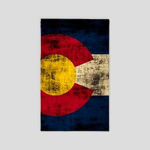 Grunge Colorado Flag 3'x5' Area Rug
