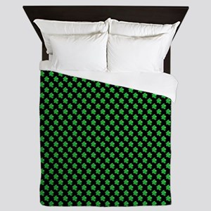 Meeple Pattern - Green Queen Duvet