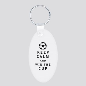 Keep Calm and Win the Cup Keychains