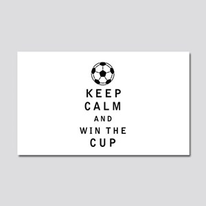 Keep Calm and Win the Cup Car Magnet 20 x 12