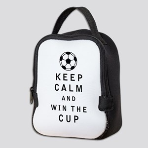 Keep Calm and Win the Cup Neoprene Lunch Bag