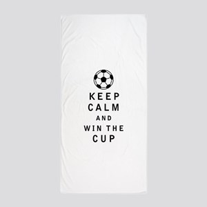 Keep Calm and Win the Cup Beach Towel