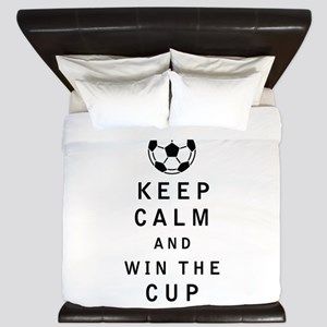 Keep Calm and Win the Cup King Duvet