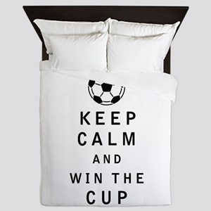 Keep Calm and Win the Cup Queen Duvet
