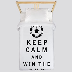 Keep Calm and Win the Cup Twin Duvet