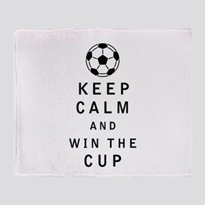 Keep Calm and Win the Cup Throw Blanket