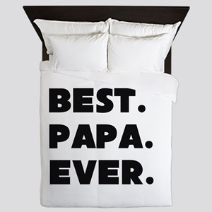 Best Papa Ever Queen Duvet