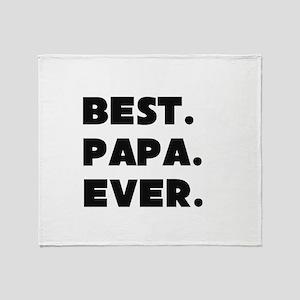 Best Papa Ever Throw Blanket