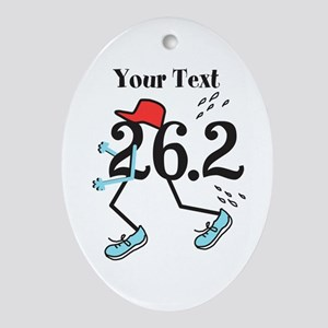 Customize Funny 26.2 Oval Ornament