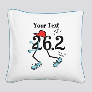Customize Funny 26.2 Square Canvas Pillow