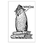 Grammar Owl Says Whom Large Poster