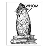 Grammar Owl Says Whom Small Poster