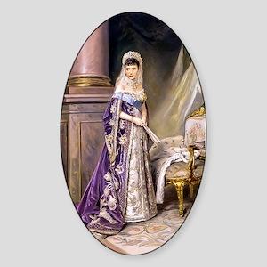Makovsky: Empress Maria Fyodorovna Sticker (Oval)