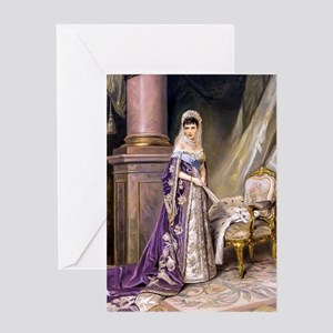 Makovsky: Empress Maria Fyodorovna Greeting Card